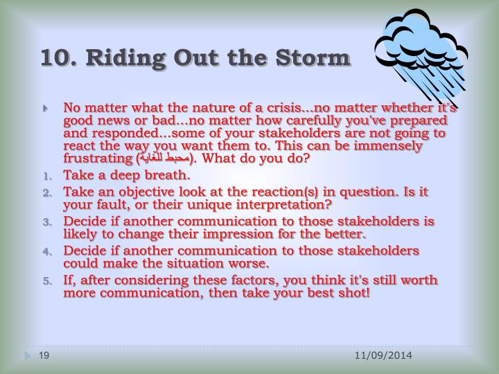 10. Riding Out the Storm