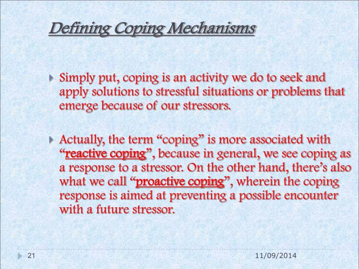 Defining Coping Mechanisms