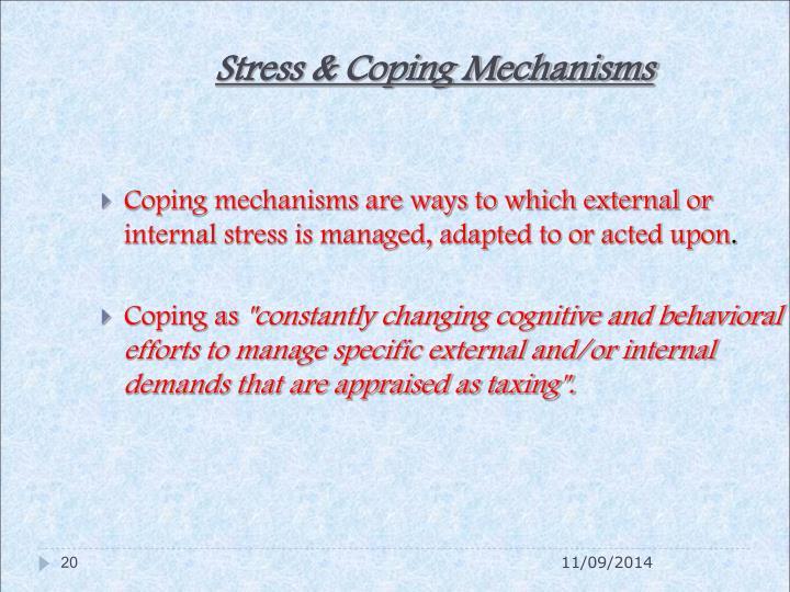 Stress & Coping Mechanisms