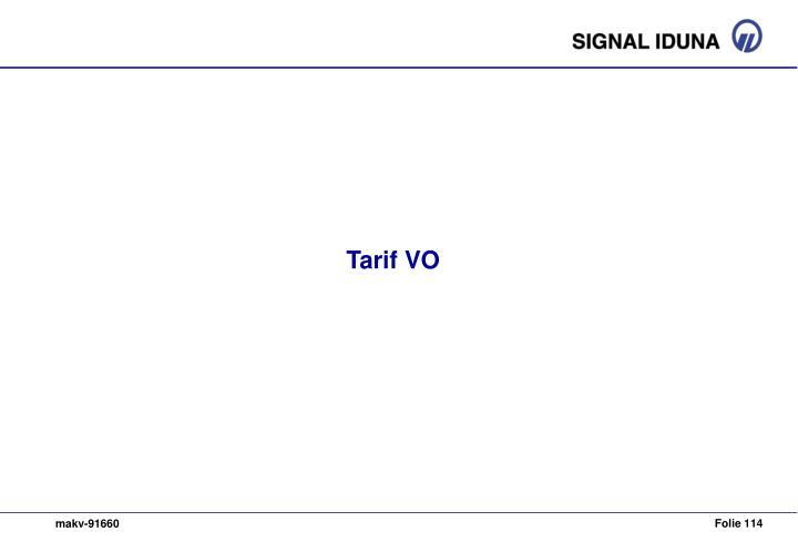 Tarif VO