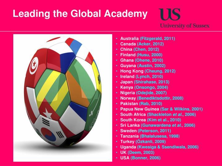 Leading the Global Academy