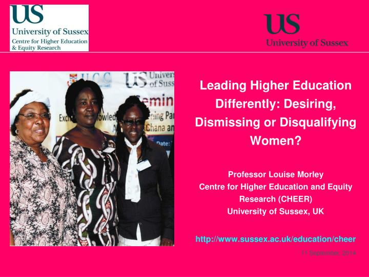 Leading Higher Education Differently: Desiring, Dismissing or Disqualifying