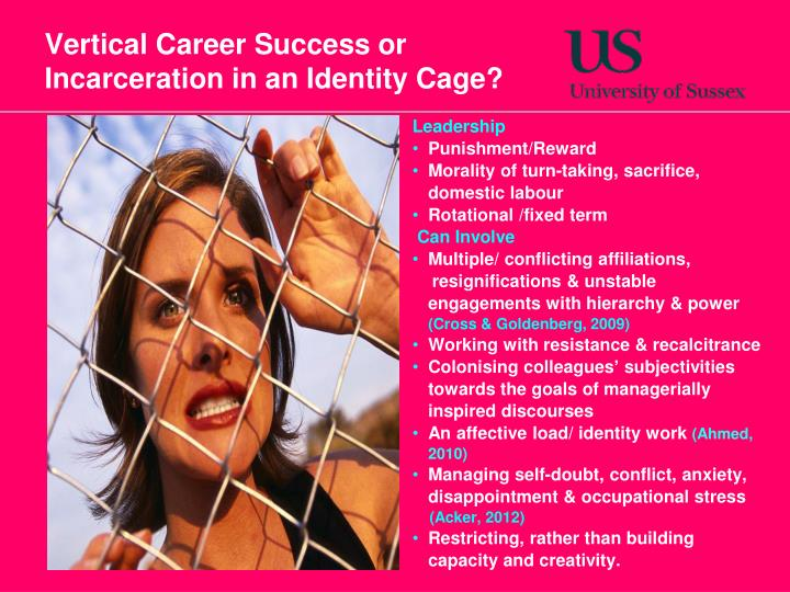 Vertical Career Success or Incarceration in an Identity Cage?