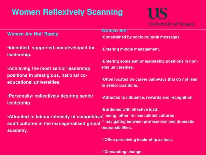 Women Reflexively Scanning