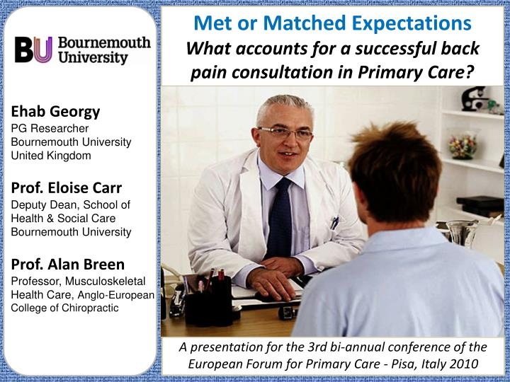 Met or Matched Expectations