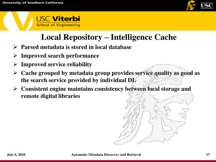 Local Repository – Intelligence Cache