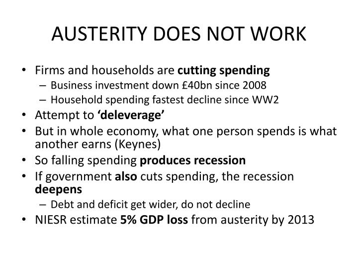 AUSTERITY DOES NOT WORK