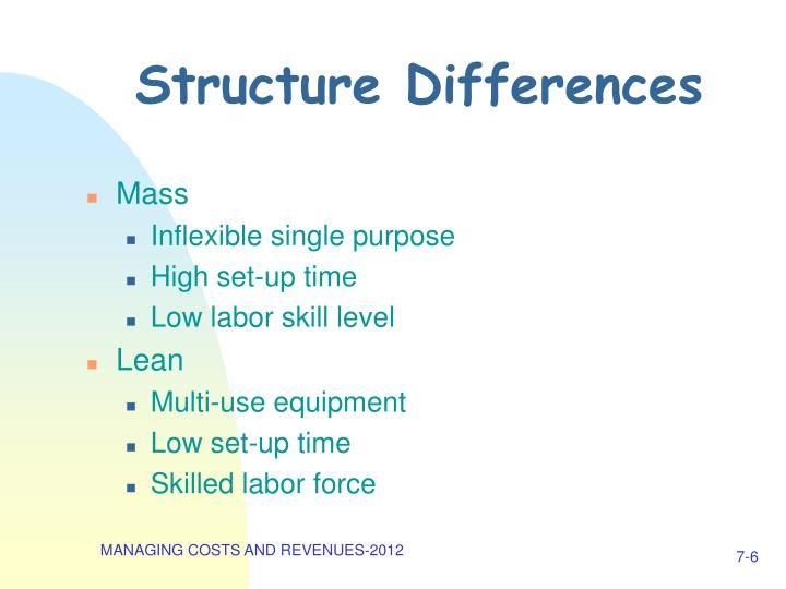 Structure Differences