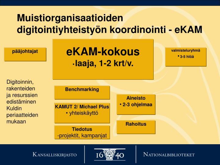 Muistiorganisaatioiden  digitointiyhteistyön koordinointi - eKAM