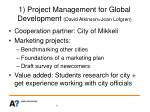 1 project management for global development david atkinson joan lofgren