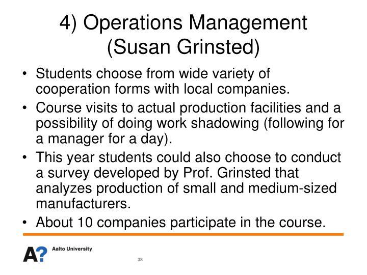 4) Operations Management
