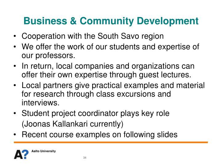 Business & Community Development