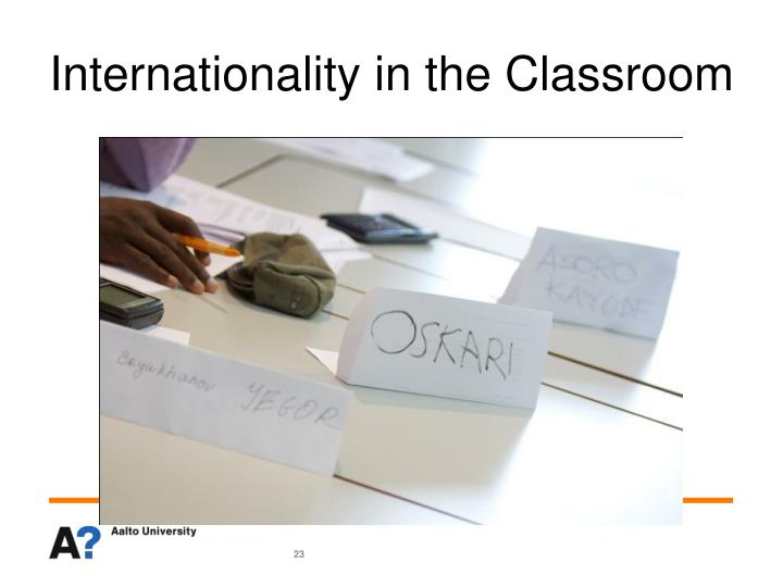 Internationality in the Classroom