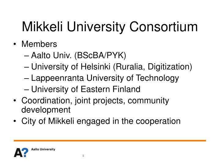 Mikkeli University Consortium