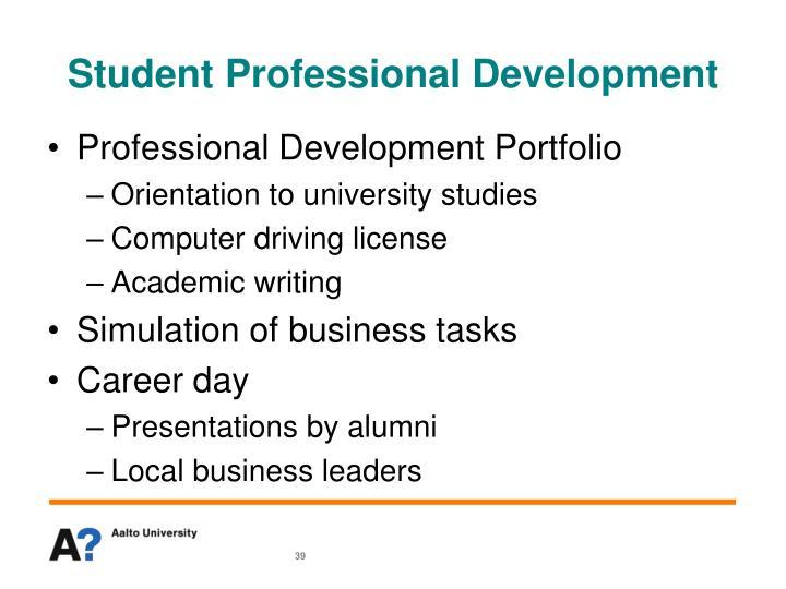 Student Professional Development
