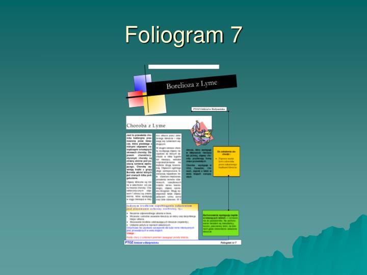 Foliogram 7