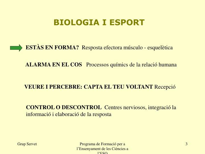 BIOLOGIA I ESPORT