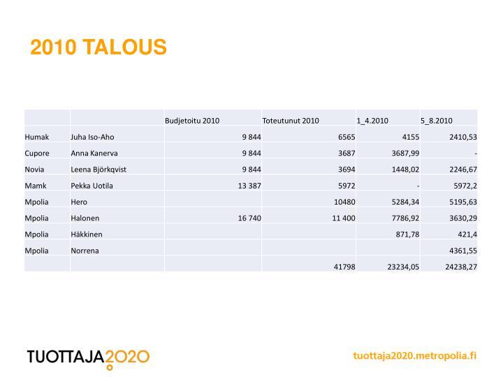2010 talous
