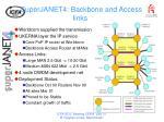 superjanet4 backbone and access links