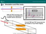 simulation and wire tests