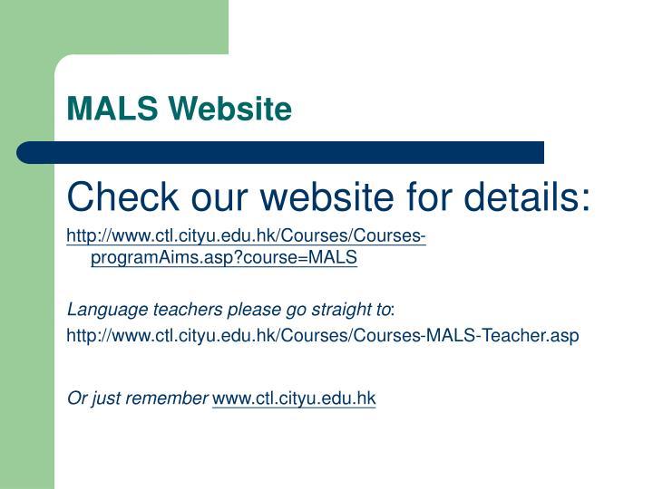 MALS Website
