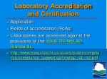 laboratory accreditation and certification
