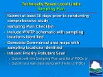 technically based local limits sampling plan