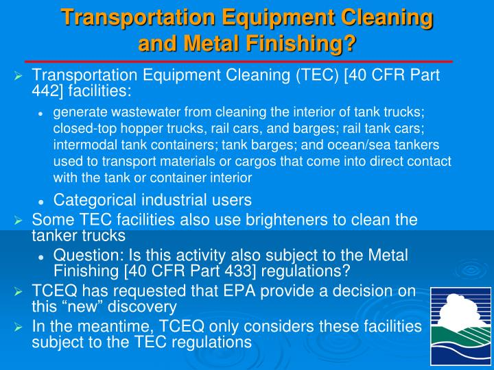 Transportation Equipment Cleaning
