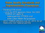 water quality standards and implementation procedures1