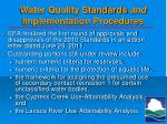water quality standards and implementation procedures2