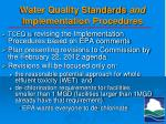 water quality standards and implementation procedures3