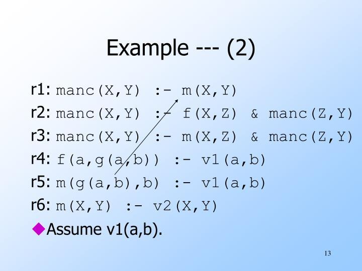 Example --- (2)