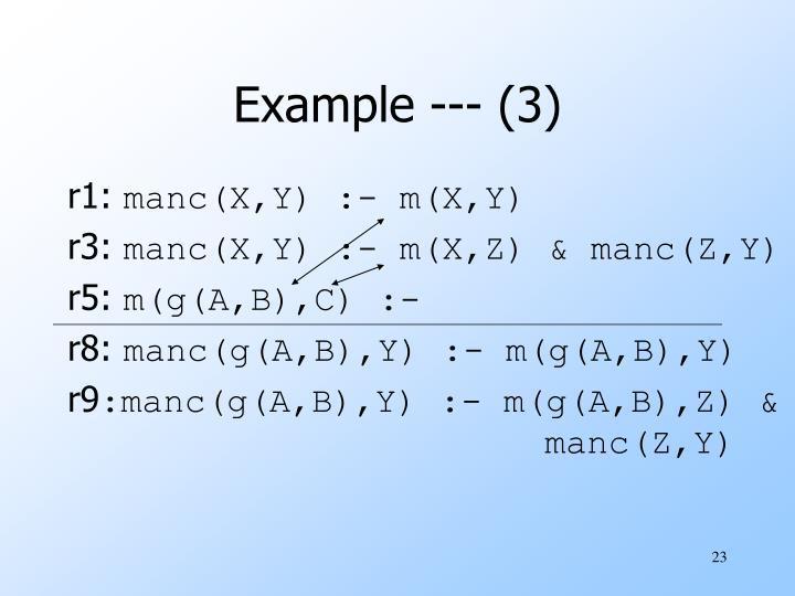 Example --- (3)
