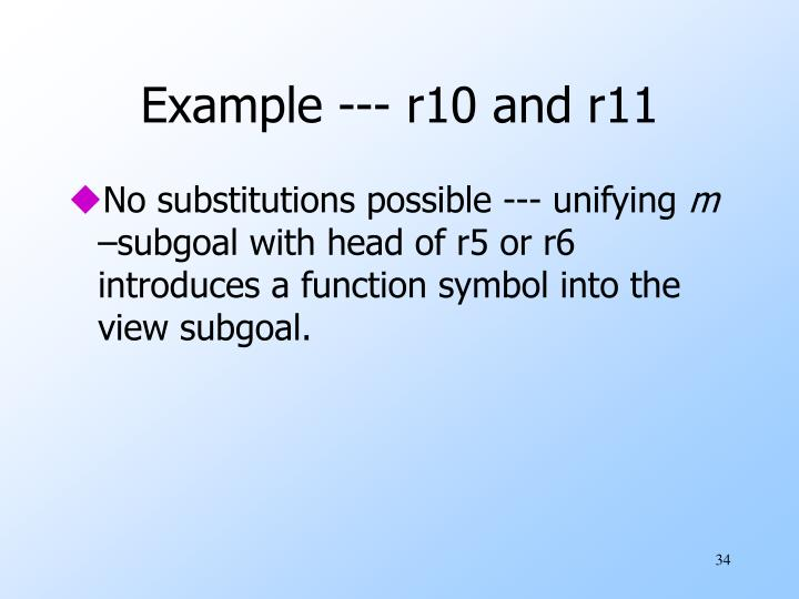 Example --- r10 and r11
