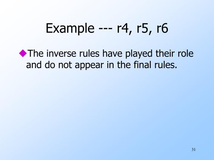 Example --- r4, r5, r6