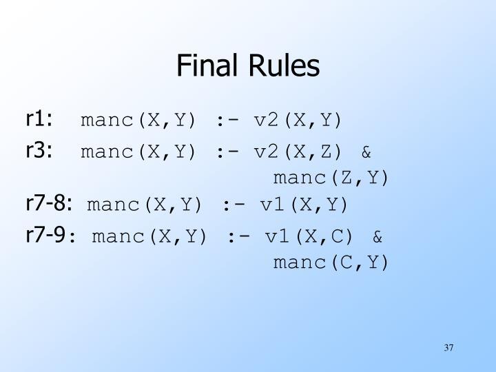 Final Rules