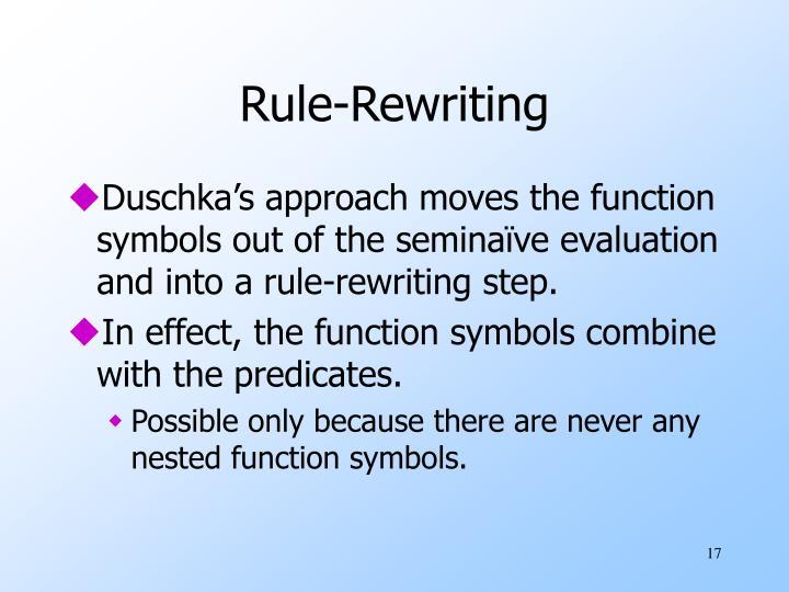 Rule-Rewriting