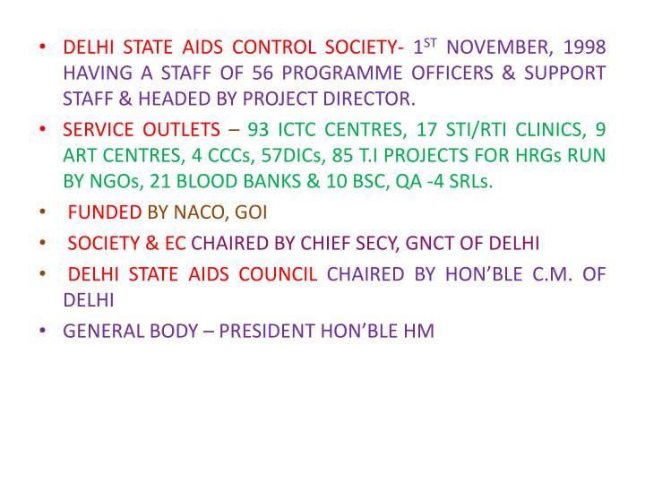 DELHI STATE AIDS CONTROL SOCIETY-