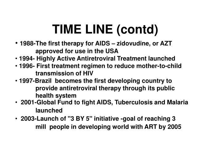 TIME LINE (contd)