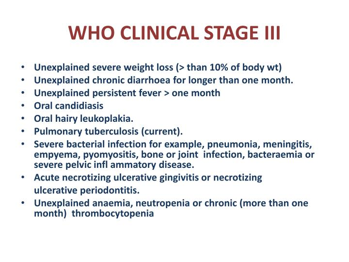 WHO CLINICAL STAGE III