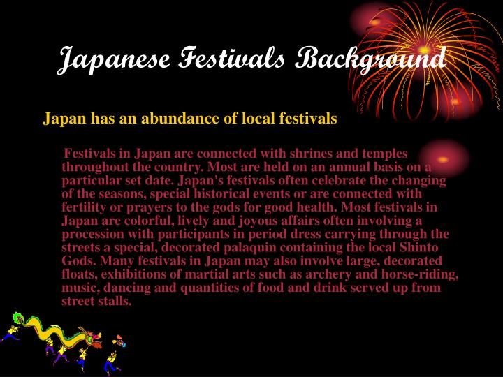Japanese festivals background