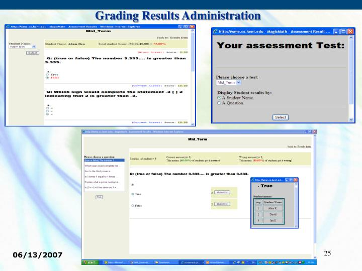Grading Results Administration