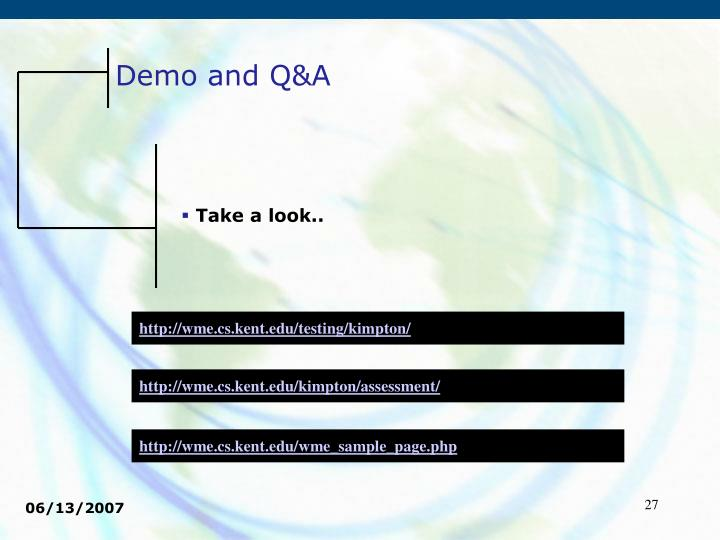 Demo and Q&A