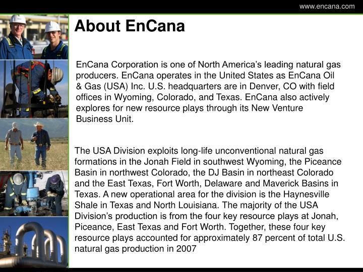About EnCana