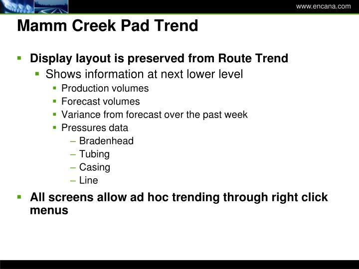 Mamm Creek Pad Trend