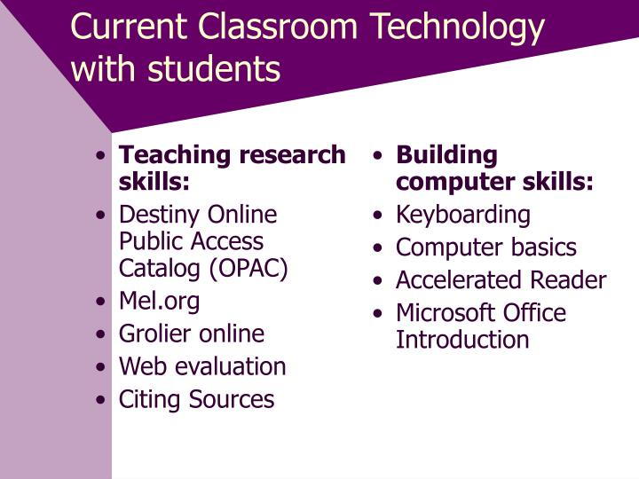 Teaching research skills: