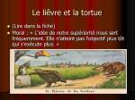 le li vre et la tortue
