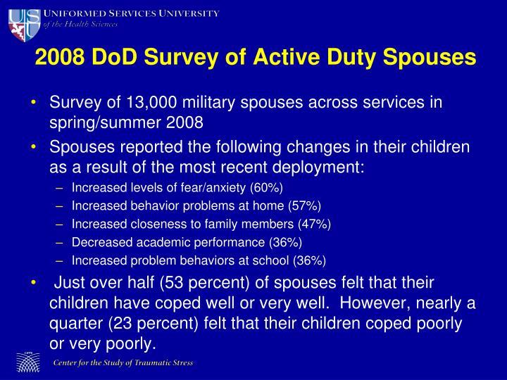 2008 DoD Survey of Active Duty Spouses