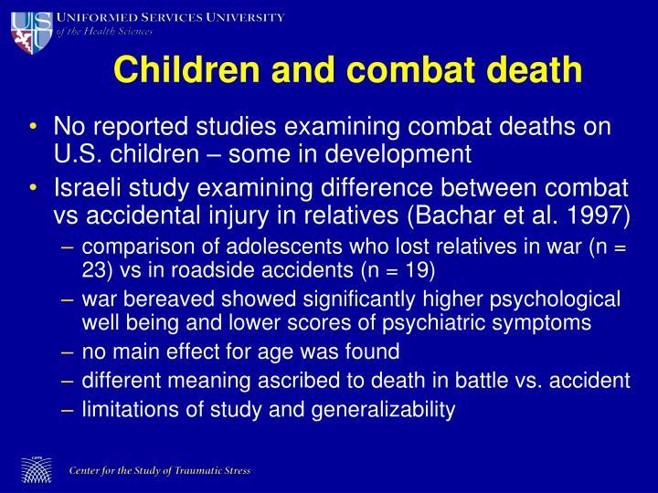 Children and combat death