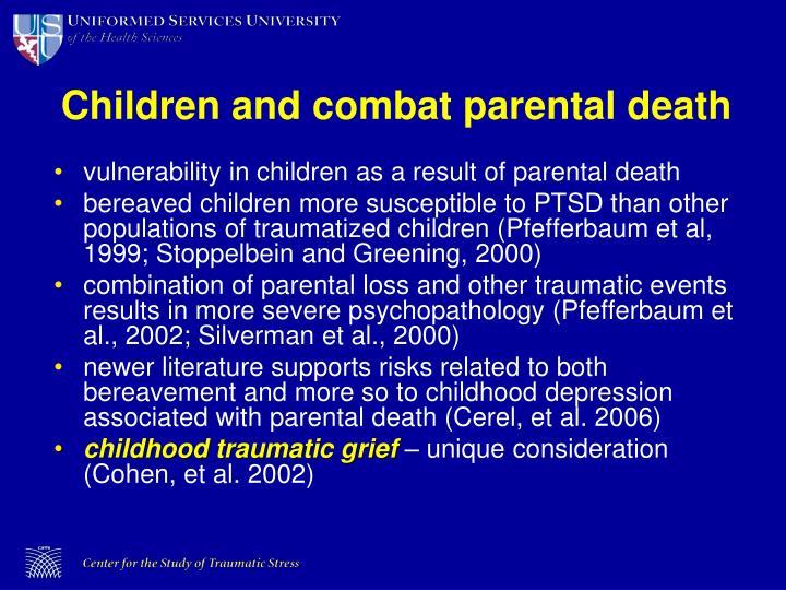 Children and combat parental death